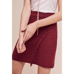 Anthropologie Maeve Arnhem Fringe Sweater Skirt
